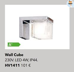 Éclairages wall cube