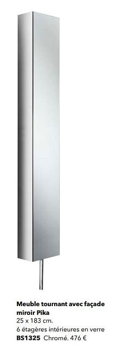 Meuble tournant avec façade miroir pika