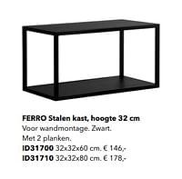 Ferro stalen kast, hoogte-Huismerk - Kvik