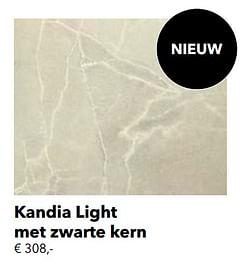 Kandia light met zwarte kern