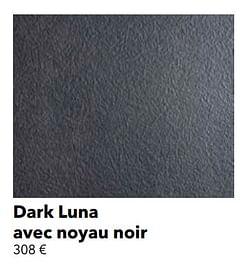 Dark luna avec noyau noir