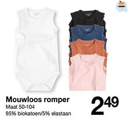 Mouwloos romper