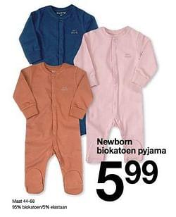 Newborn biokatoen pyjama