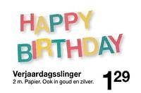 Verjaardagsslinger-Huismerk - Zeeman