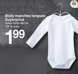 Body manches longues superprice