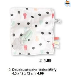 Doudou attache-tétine miffy