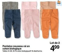 Pantalon nouveau-né en coton biologique