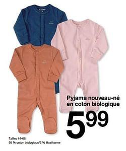 Pyjama nouveau-né en coton biologique