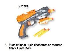 Pistolet lanceur de fléchettes en mousse