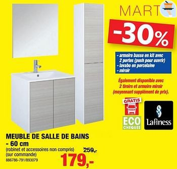 Promotion Hubo Meuble De Salle De Bains Marti Lafiness Cuisine Salle De Bain Valide Jusqua 4 Promobutler