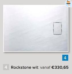 Douchebak rockstone wit: