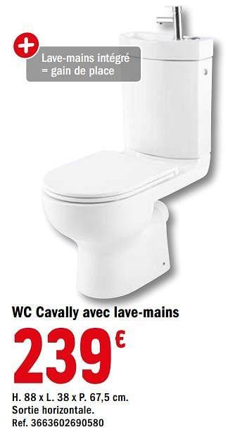 Promotion Brico Depot Wc Cavally Avec Lave Mains Goodhome Construction Renovation Valide Jusqua 4 Promobutler