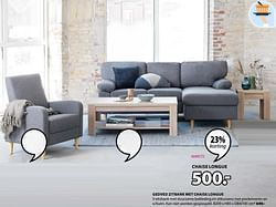 Gedved zitbank met chaise longue
