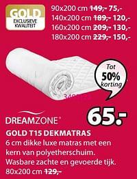 Gold t15 dekmatras-DreamZone