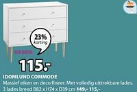 Idomlund commode 3 lades breed-Huismerk - Jysk