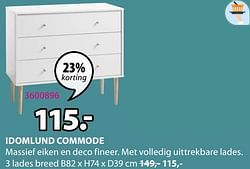Idomlund commode 3 lades breed