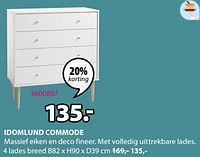 Idomlund commode 4 lades breed-Huismerk - Jysk