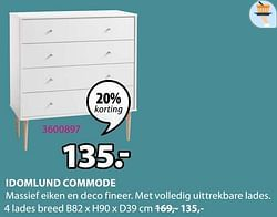 Idomlund commode 4 lades breed
