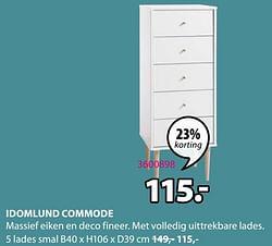 Idomlund commode 5 lades smal