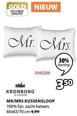 Mr-mrs kussensloop