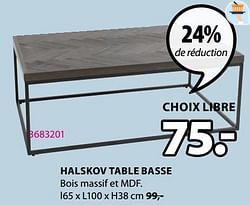 Halskov table basse