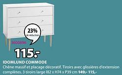 Idomlund commode 3 tiroirs large