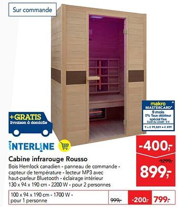 Promotion Makro Cabine Infrarouge Rousso Interline Piscine Sauna Valide Jusquà 4 Promobutler