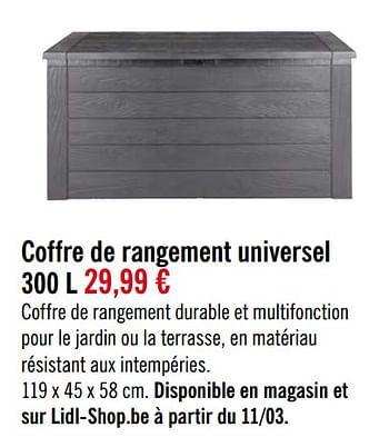 Promotion Lidl Coffre De Rangement Universel Produit Maison Lidl Menage Valide Jusqua 4 Promobutler