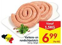 Varkens- en rundschipolata`s-Huismerk - Intermarche