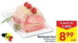 Rôti de porc farci