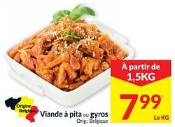Viande à pita ou gyros