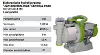 Elektronische hydrofoorpomp jgp130039bn-inox central park-Central Park