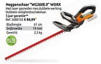 Heggenschaar wg260e.9 worx-Worx