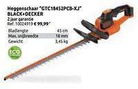 Heggenschaar gtc18452pcb-xj black+decker-Black & Decker
