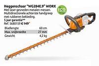 Heggenschaar wg284e.9 worx-Worx
