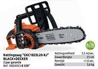 Kettingzaag gkc1825l20-xj black+decker-Black & Decker