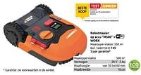 Robotmaaier op accu m500 + wifi worx-Worx