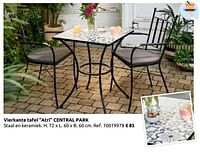 Vierkante tafel atri central park-Central Park