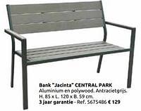 Bank jacinta central park-Central Park