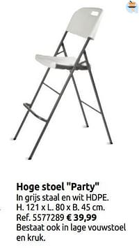 Hoge stoel party-Central Park