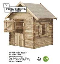 Houten huisje louise-Huismerk - Brico