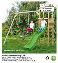 Houten toren en speeltuig lola-BNB Wood