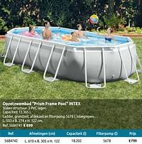 Opzetzwembad prism frame pool intex-Intex