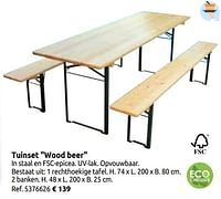 Tuinset wood beer-Central Park