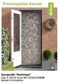 Provençaalse deuren deurgordijn martinique-Huismerk - Brico