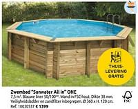 Zwembad sunwater all in one-Huismerk - Brico