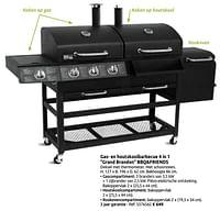Gas- en houtskoolbarbecue 4 in 1 grand brandon bbq+friends-BBQ & Friends