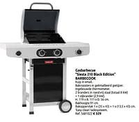 Gasbarbecue siesta 210 black edition barbecook-Barbecook
