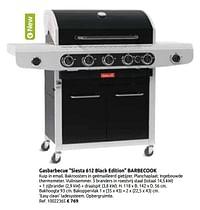 Gasbarbecue siesta 612 black edition barbecook-Barbecook