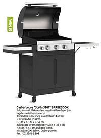 Gasbarbecue stella 3201 barbecook-Barbecook